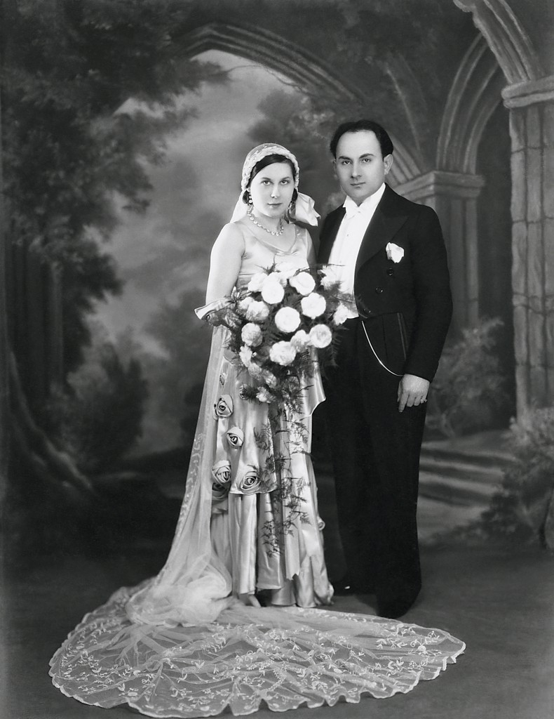The marriage of Boris Bennett and Julia Vines in 1930